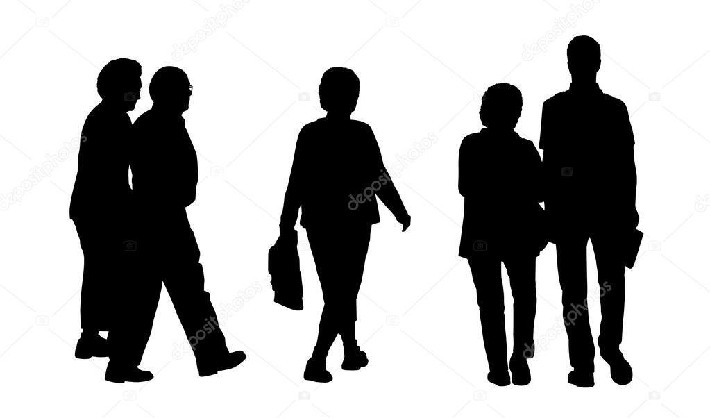 Sagome Persone Che Camminano.Persone Che Camminano Insieme All Aperto Sagome 2 Foto