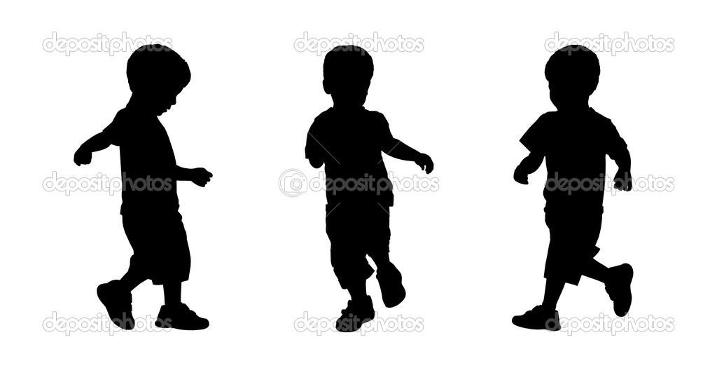 Niño Corriendo Siluetas Set 3