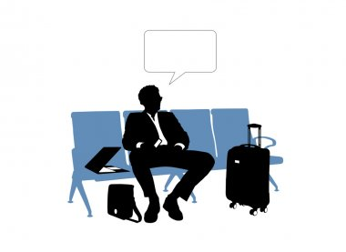 Businessman waiting in the airport