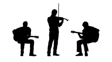 Musicians silhouettes set 2