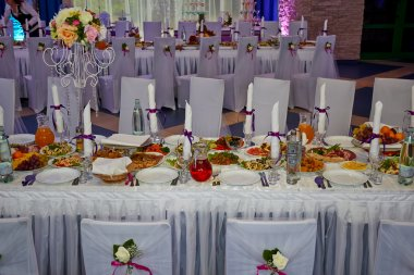 festive table with food