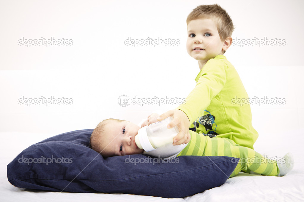 Taking care of brother