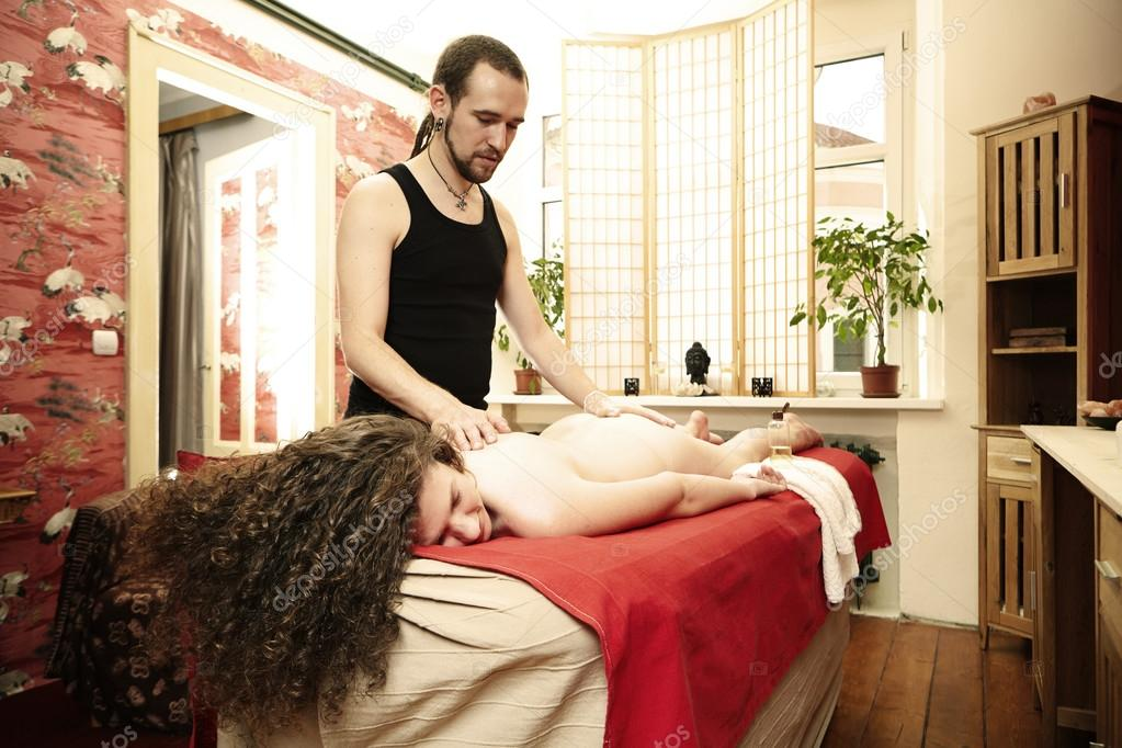 Tantra massager healing body and soul of woman