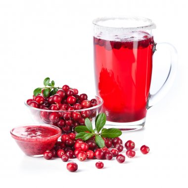 Fruit drink made from cranberries