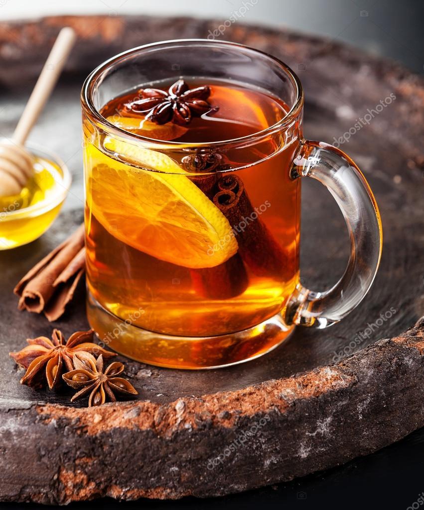 картинка кружка чая и мед змея небольших