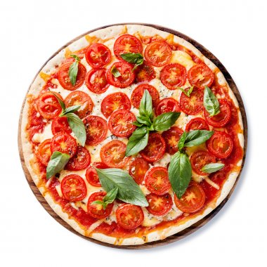 Italian pizza with cherry tomatoes