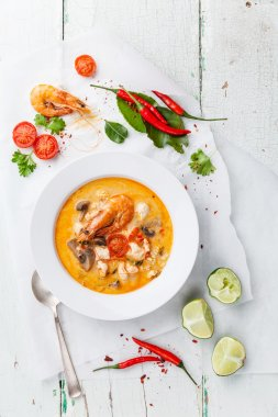 Spicy Thai soup Tom Yam