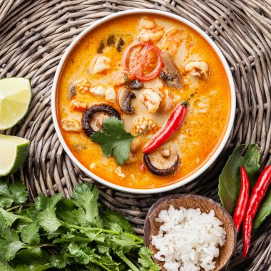 Tom Yam with Coconut milk