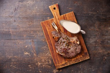 Rib eye Steak with pepper sauce