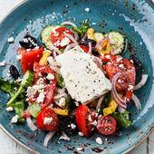 Řecký salát s balkánským sýrem