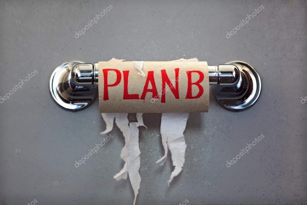 Plan B for no toilet paper — Stock Photo