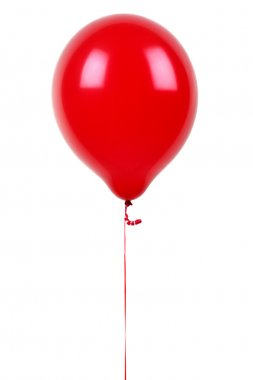 Red balloon isolated on white stock vector
