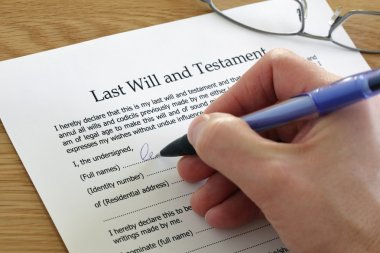 Signing Last Will and Testament