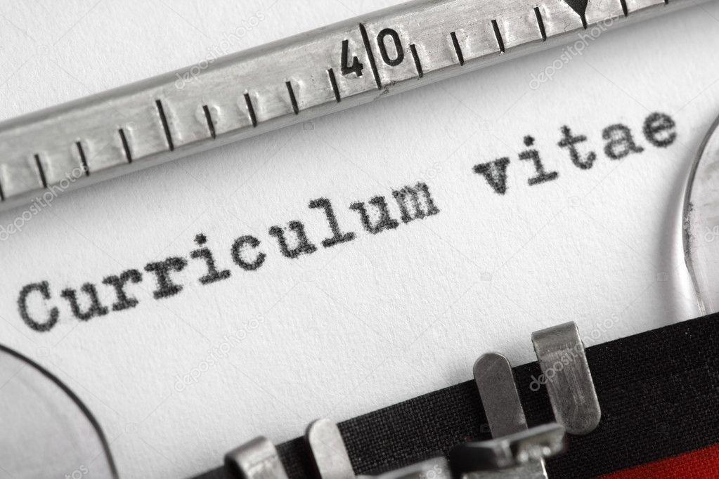 currículum vitae escrito en máquina de escribir — Fotos de Stock ...