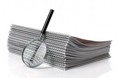 Searching ring binder document
