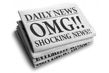 OMG shocking news daily newspaper headline