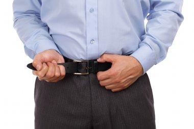 Tightening one's belt