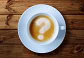 Fotografie Coffee cup with question mark