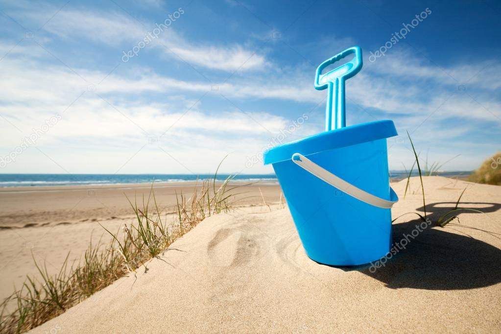Beach bucket and spade