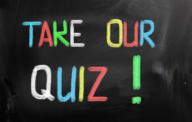 Take Our Quiz Concept