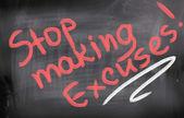 Fotografie Stop Making Excuses Concept