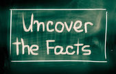 Fotografie Uncover The Facts Concept