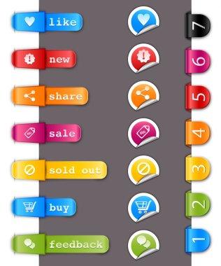 Elements design. Electronic commerce labels