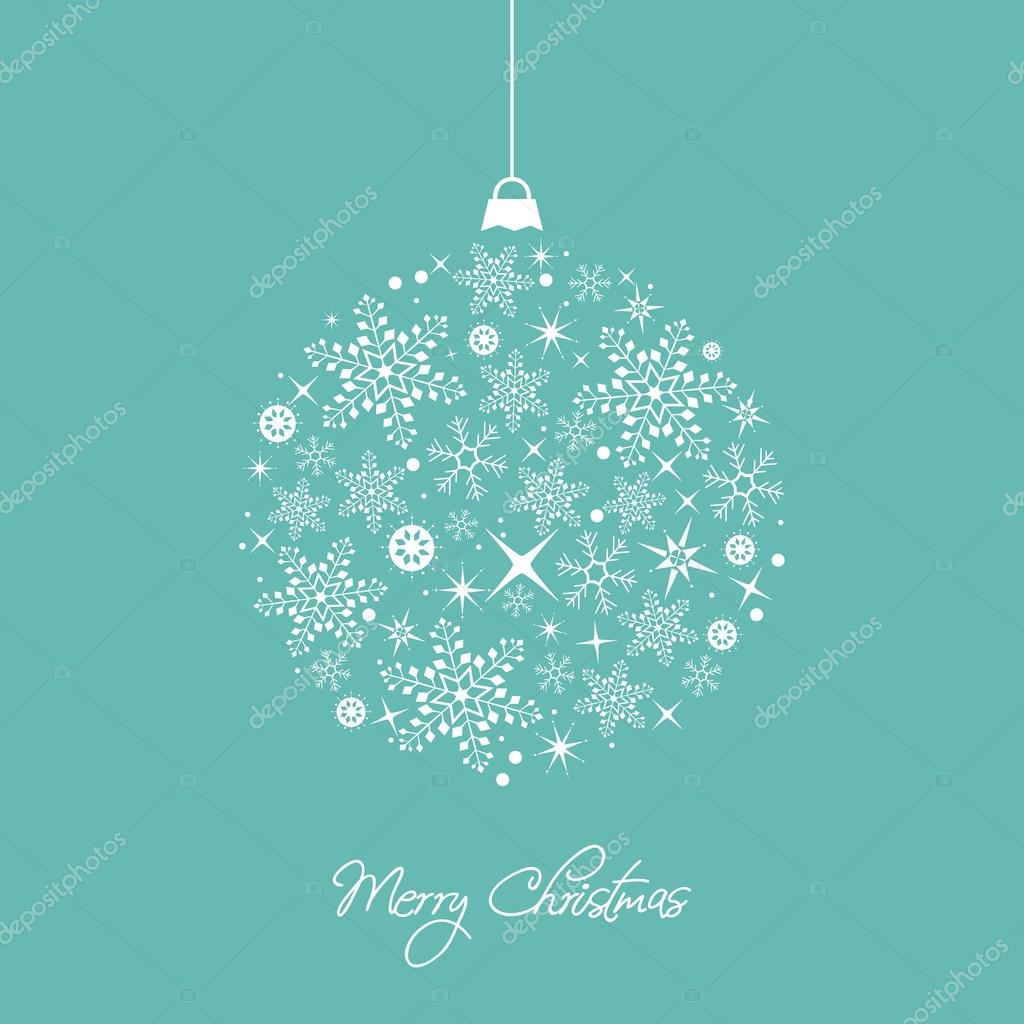 Christmas decorations. Snowflakes. Card design.