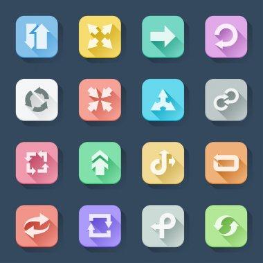 Arrow flat icons