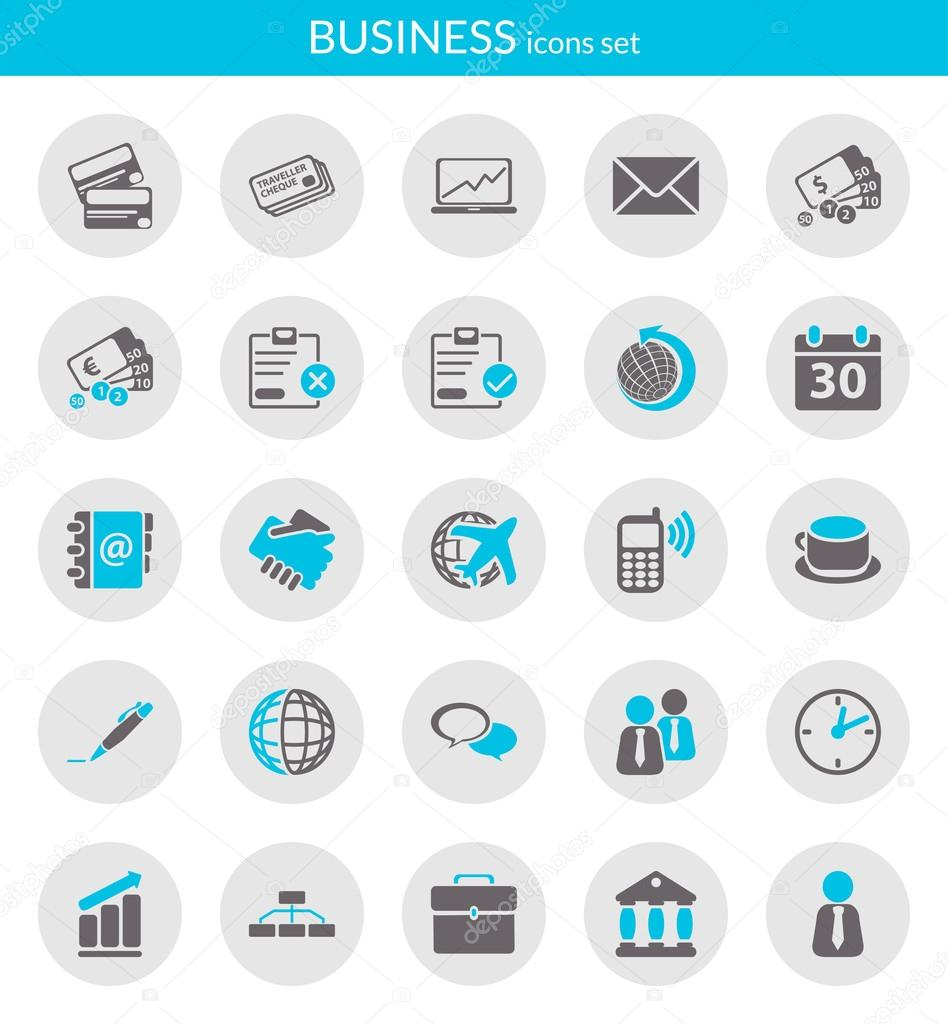 Icons about business