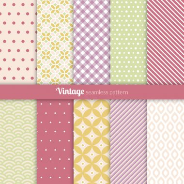 Seamless patterns Vintage style