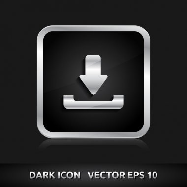 Download icon silver metal