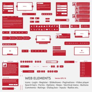 Web elements template