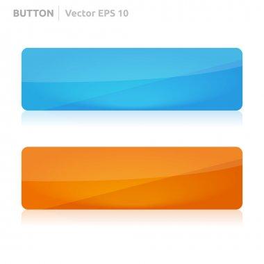 Button template web blue and orange