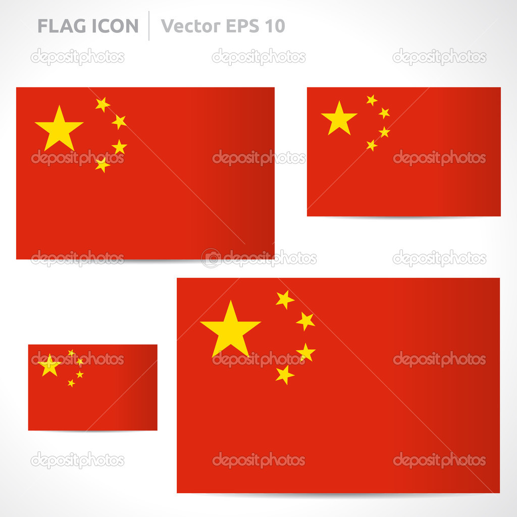 china flag template — stock vector © betavid #49771821, Powerpoint templates