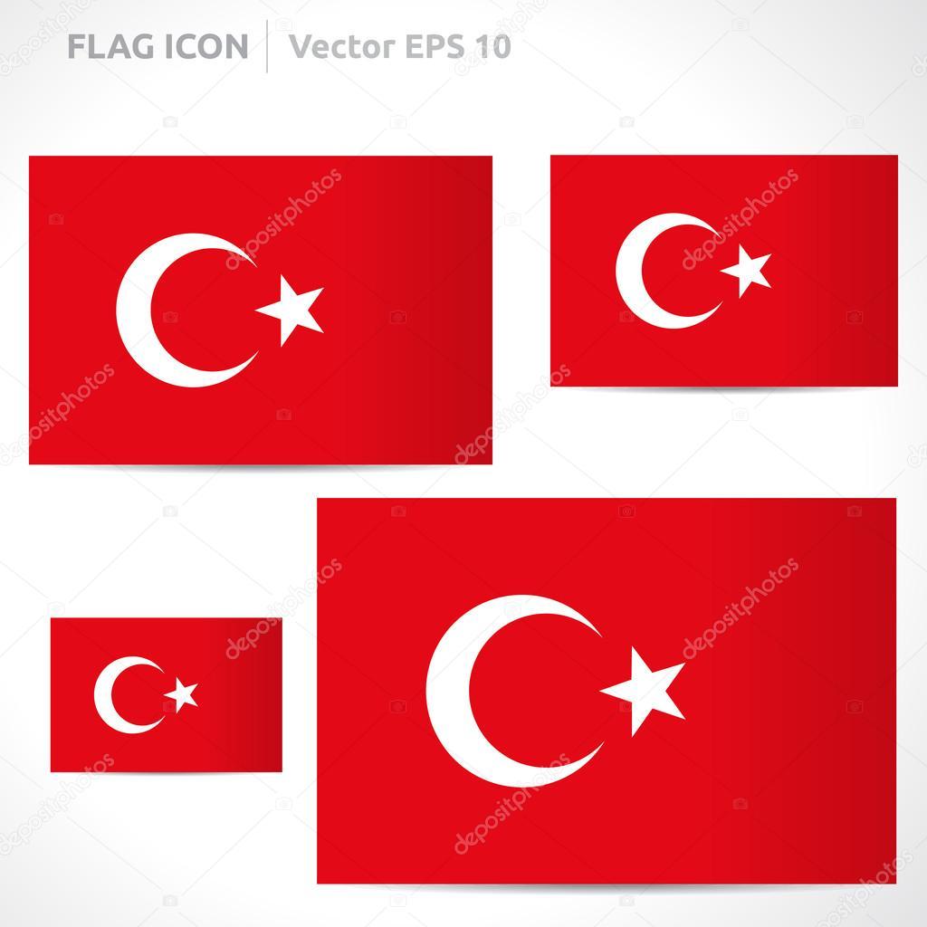 Türkei Flagge Vorlage — Stockvektor © Betavid #49771837
