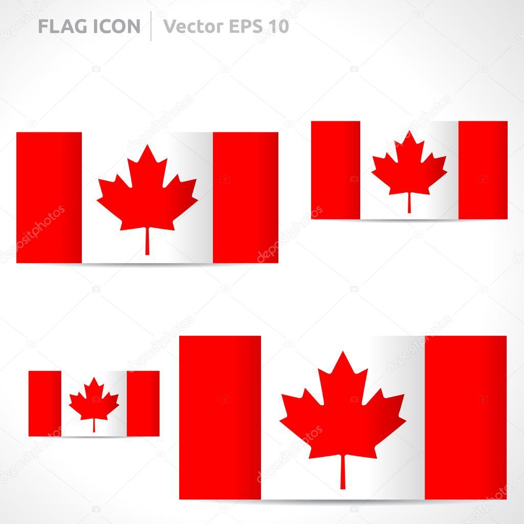plantilla de la bandera de Canadá — Archivo Imágenes Vectoriales ...