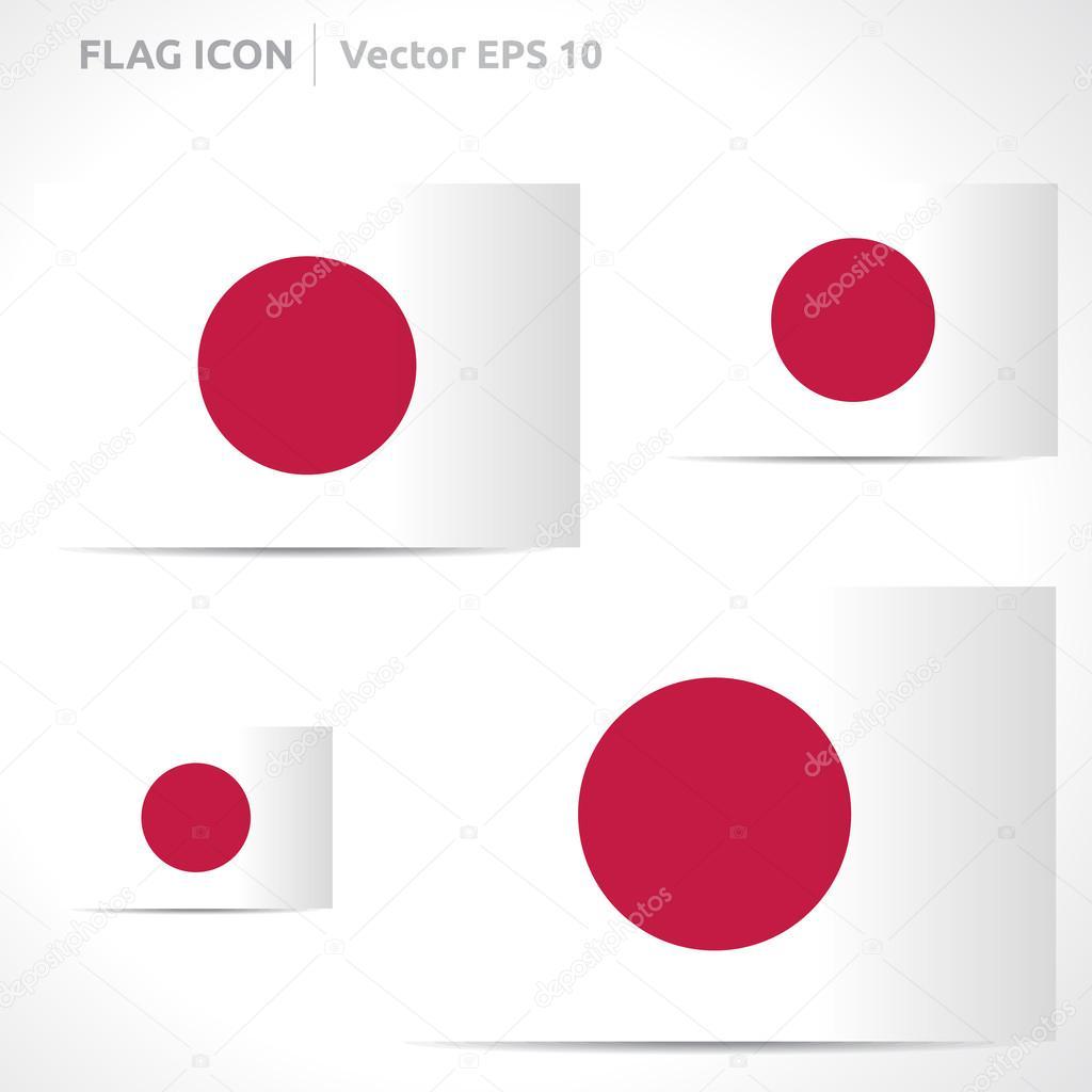 japan flag template — stock vector © betavid #49771953, Powerpoint templates