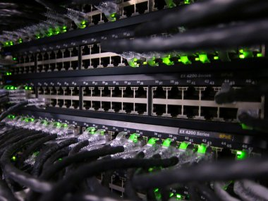 Network cables in a data center