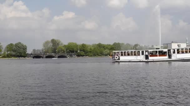 Boote an der Alster in hamburg