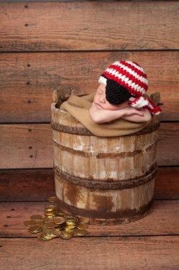 Newborn baby boy pirate
