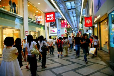 Shinsaibashi Osaka Dotonbori is the largest commercial pedestrian street