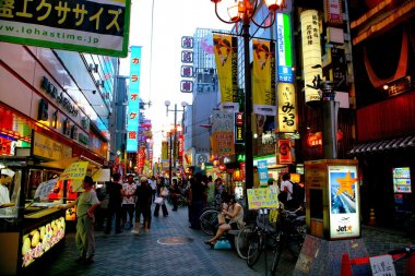 Shinsaibashi Osaka Dotonbori is the largest food street