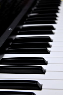 Music playing a musical instrument - piano keys