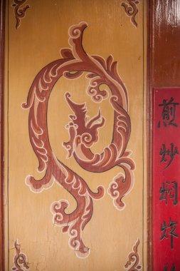 Gansu Dunhuang Folk Museum display mural dragon pattern residential buildings