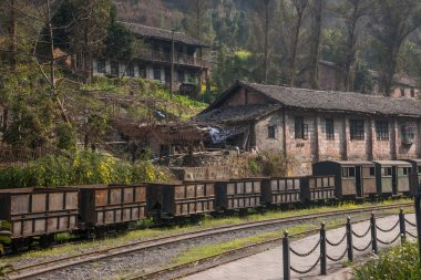 Leshan City, Sichuan Qianwei Kayo small train station Huangcun wells architectural legacy of the Cultural Revolution