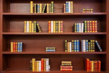 Interior shelves stock vector