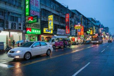 Taiwan's Feng Chia Night Market, Taichung, Taiwan Wenhua Road night before