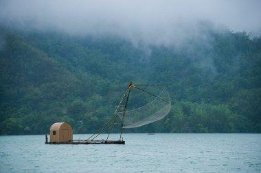 Sun Moon Lake in Nantou County, Taiwan fishing boat