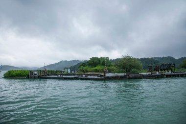 Sun Moon Lake in Nantou County, Taiwan on from the shuttle passenger yacht